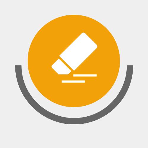 Data erasure symbol
